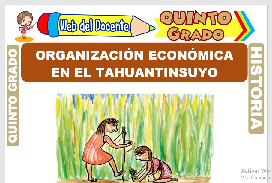 Ficha de Organización Económica en el Tahuantinsuyo para Quinto Grado de Primaria