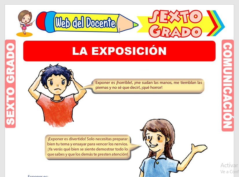 Ficha de Pasos para Hacer una Exposición para Sexto Grado de Primaria