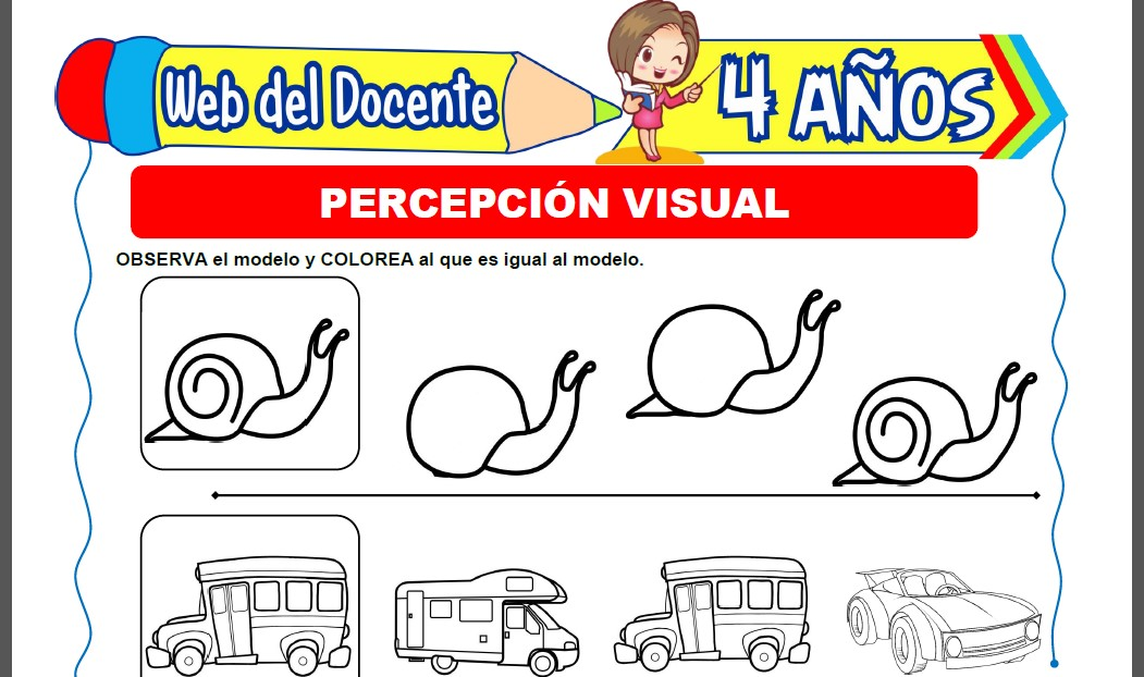 Percepción Visual para Niños de 4 Años