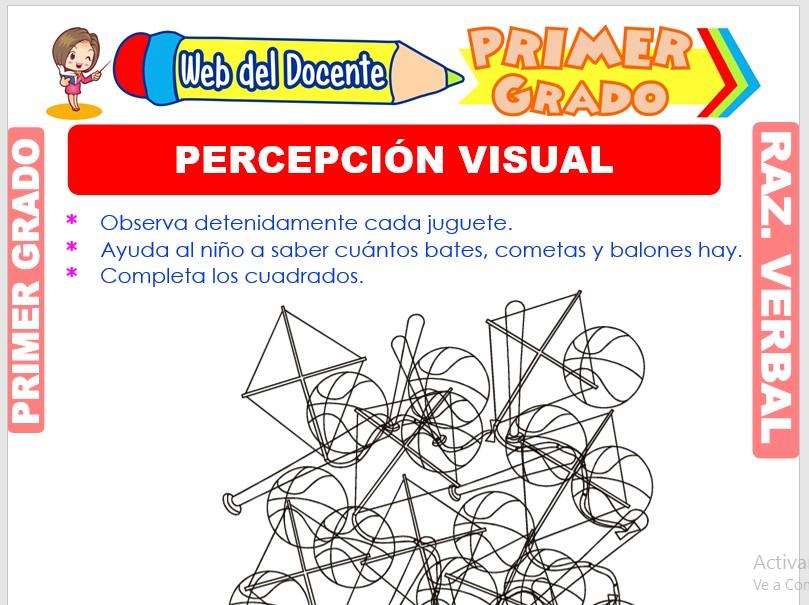 Ficha de Percepción Visual para Primer Grado de Primaria