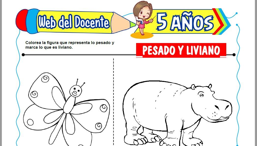 Muestra de la Ficha de Pesado y Liviano para Niños de 5 Años