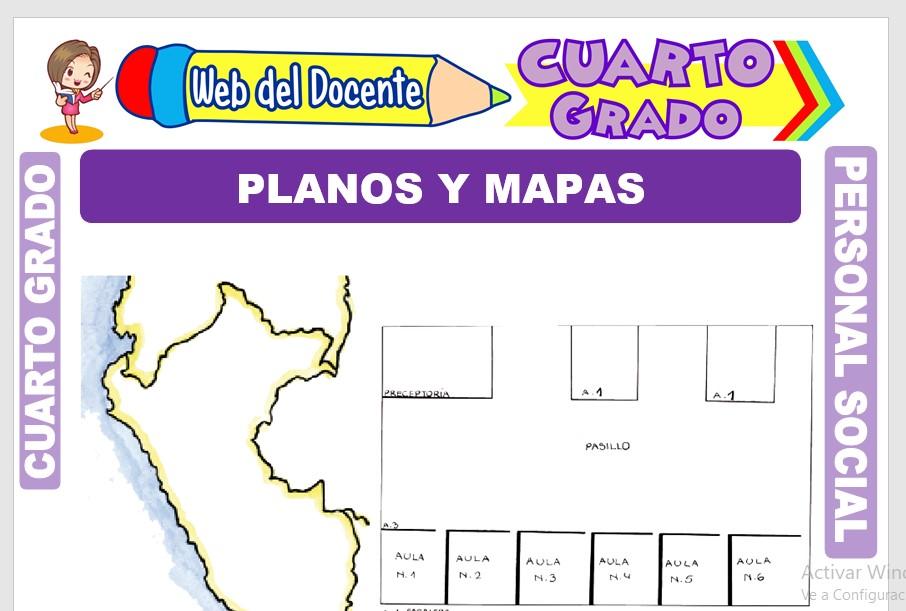 Ficha de Planos y Mapas para Cuarto Grado de Primaria