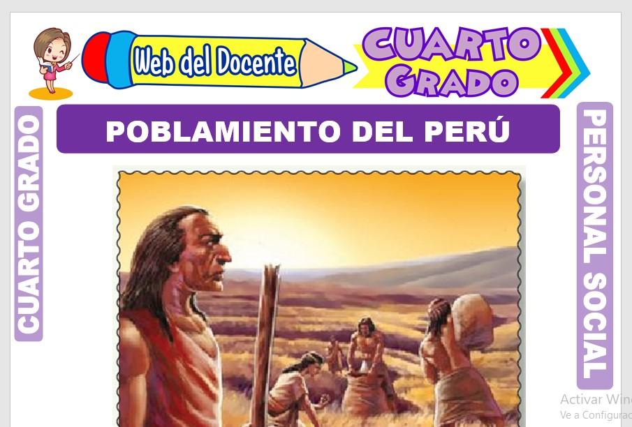 Ficha de Poblamiento del Perú para Cuarto Grado de Primaria