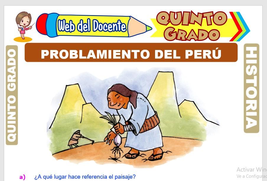 Ficha de Poblamiento del Perú para Quinto Grado de Primaria