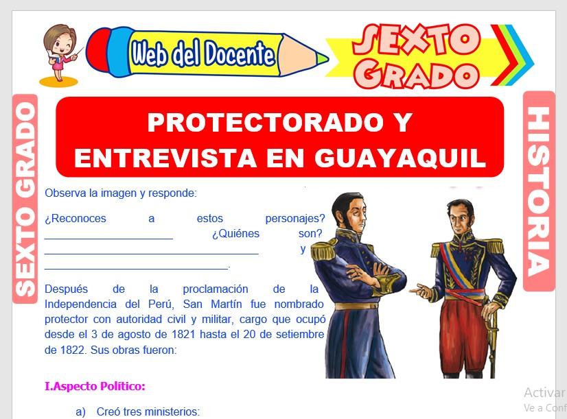 Ficha de Protectorado y Entrevista en Guayaquil para Sexto Grado de Primaria