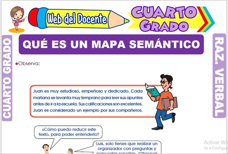 Ficha de Qué es un Mapa Semántico para Cuarto Grado de Primaria
