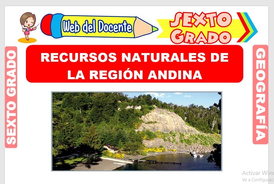 Ficha de Recursos Naturales de la Región Andina para Sexto Grado de Primaria