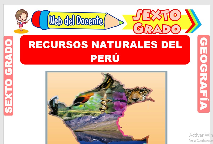 Ficha de Recursos Naturales del Perú para Sexto Grado de Primaria