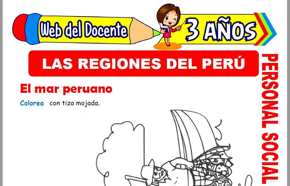 Muestra de la Ficha de Regiones del Perú para Niños de 3 Años