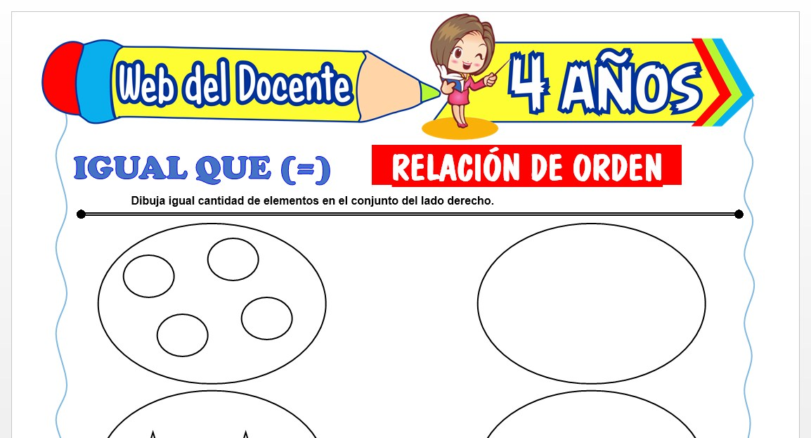 Relación de Orden para Niños de 4 AÑOS