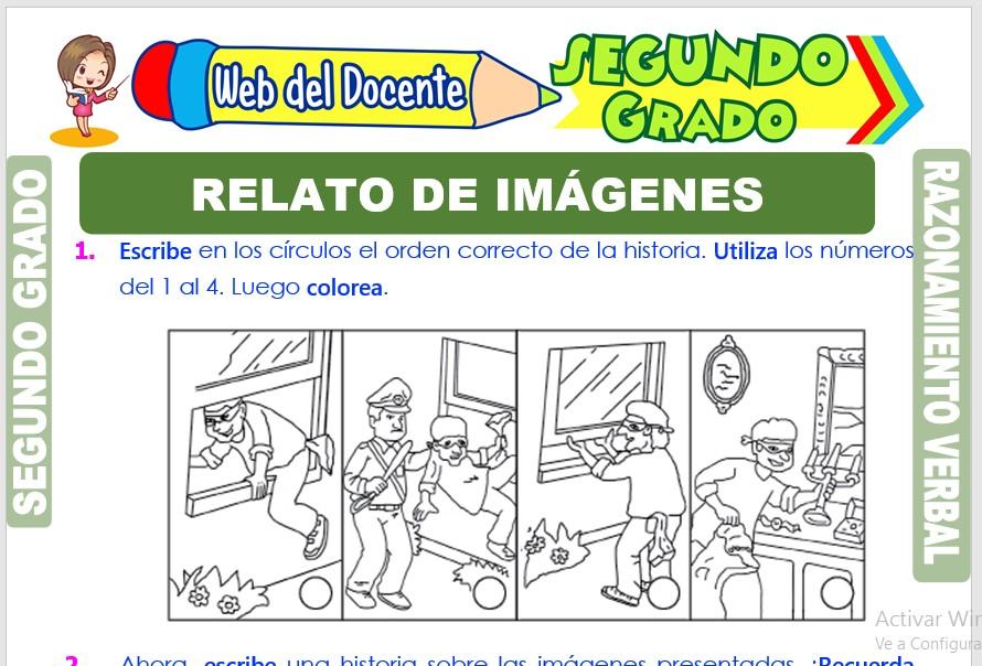 Ficha de Relato de Imágenes para Segundo Grado de Primaria