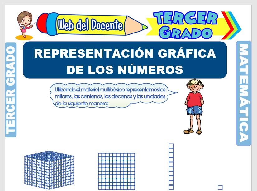Ficha de Representación Gráfica de los Números para Tercer Grado de Primaria