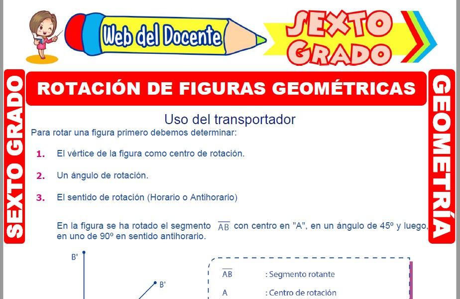 Rotación de Figuras Geométricas