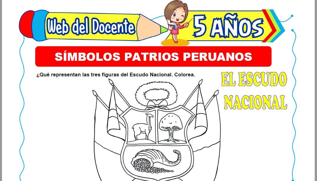 Muestra de la Ficha de Símbolos Patrios Peruanos para Niños de 5 Años