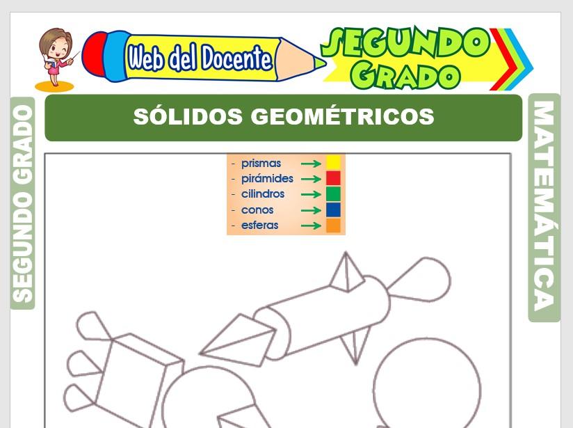 Ficha de Sólidos Geométricos y Perímetros para Segundo Grado de Primaria