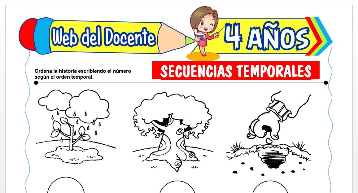 Ficha de Secuencias Temporales para Niños de 4 AÑOS