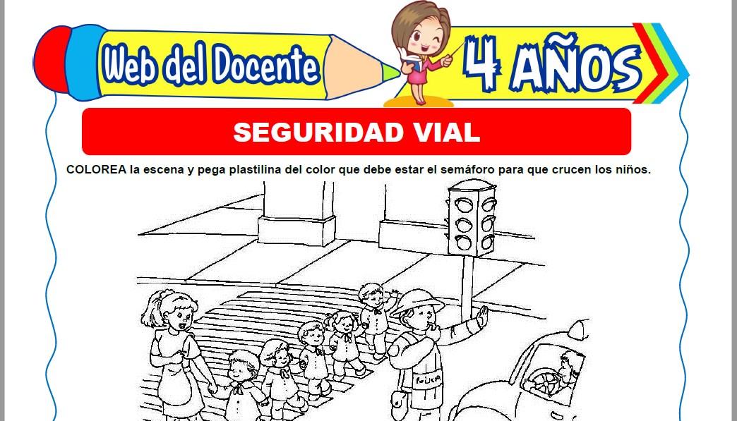 Muestra de la Ficha de Seguridad Vial para Niños de 4 Años