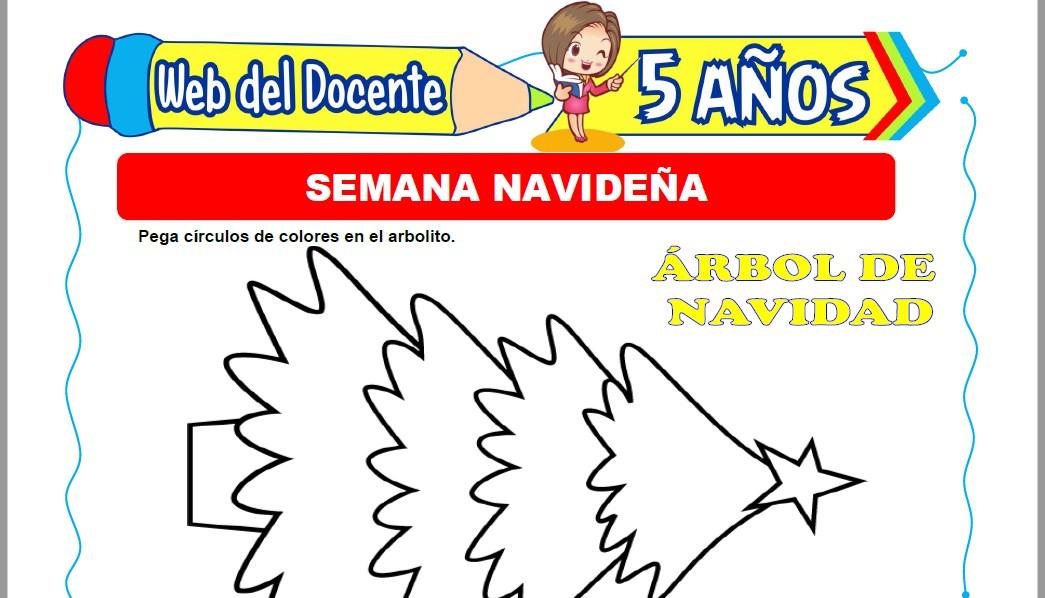 Muestra de la Ficha de Semana Navideña para Niños de 5 Años