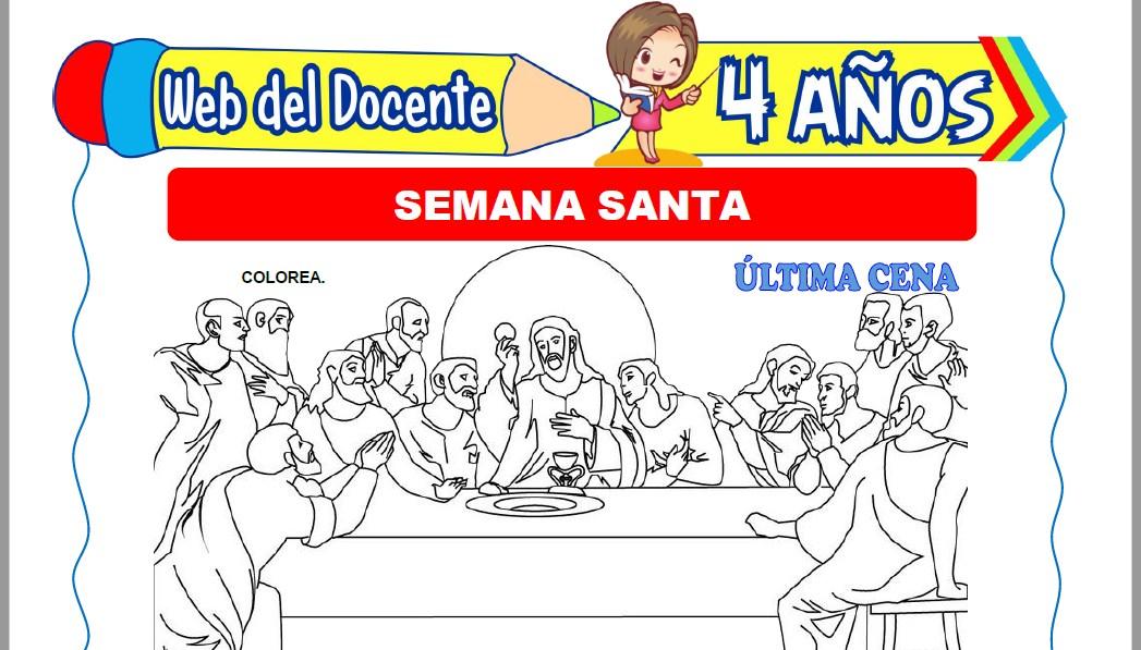 Muestra de la Ficha de Semana Santa para Niños de 4 Años