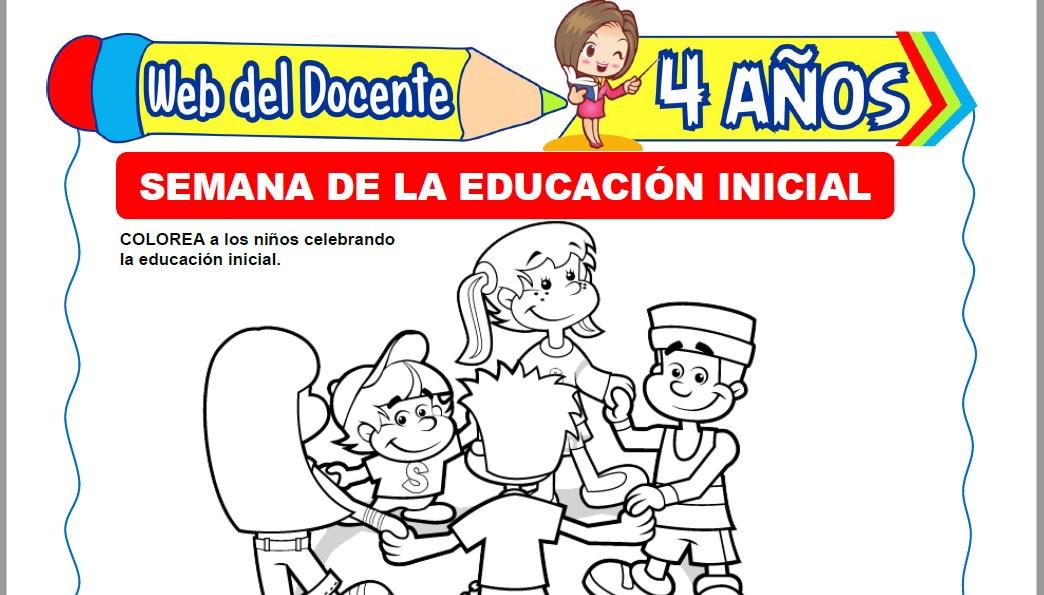 Muestra de la Ficha de Semana de la Educación Inicial para Niños de 4 Años