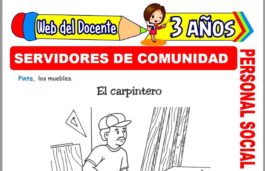 Muestra de la Ficha de Servidores de la Comunidad para Niños de 3 Años