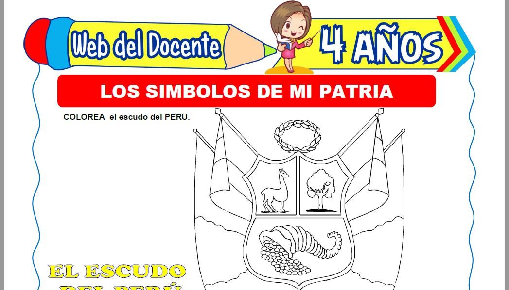 Muestra de la Ficha de Simbolos de la Patria para Niños de 4 Años