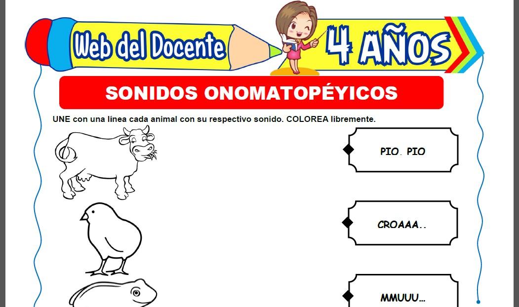 Sonidos Onomatopéyicos para Niños de 4 Años