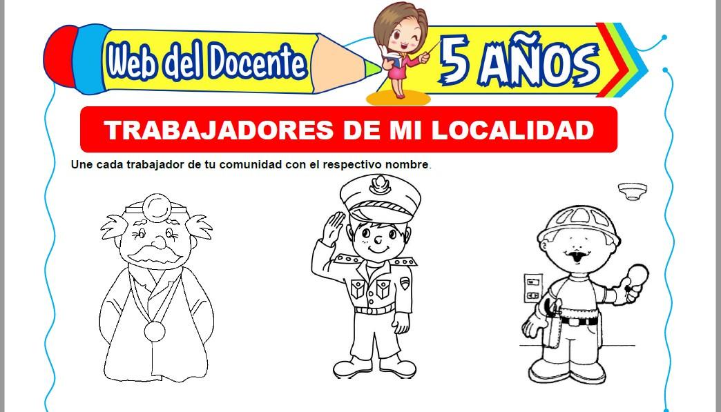 Muestra de la Ficha de Trabajadores de mi Localidad para Niños de 5 Años