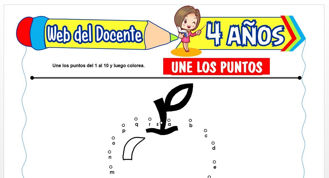 Ficha de Une los Puntos para Niños de 4 AÑOS