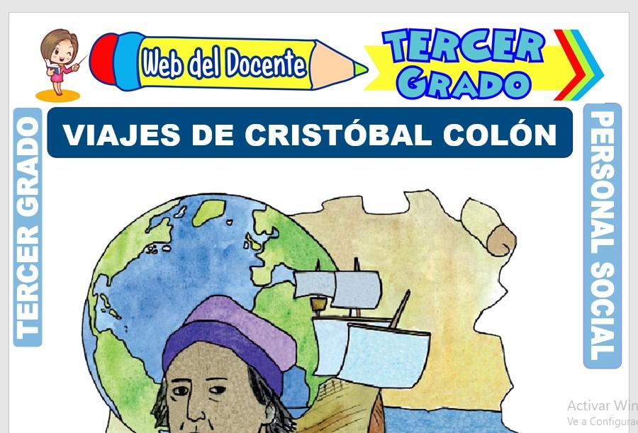 Ficha de Viajes de Cristóbal Colón para Tercer Grado de Primaria