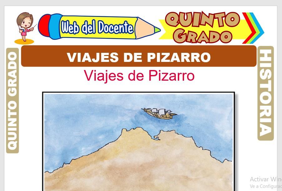 Ficha de Viajes de Pizarro para Quinto Grado de Primaria