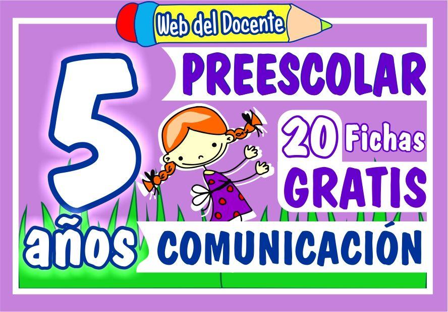 Actividades de Comunicacion para Niños de 5 Años de Preescolar o Inicial