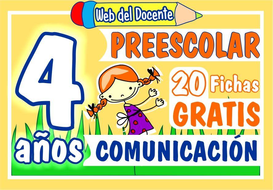 Actividades de Comunicacion para Niños de 4 Años de Preescolar o Inicial