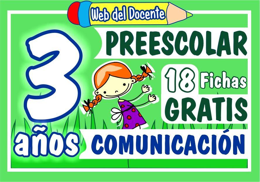 Actividades de Comunicacion para Niños de 3 Años de Preescolar o Inicial