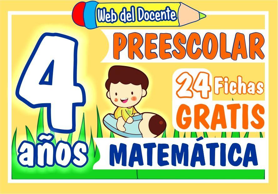 Matemática Cuatro Años de Preescolar o Inicial