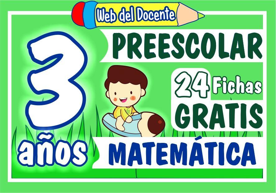 Matematica Tres Años de Preescolar o Inicial