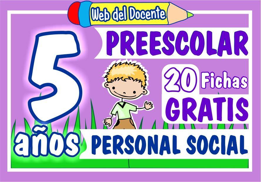 Actividades de Personal Social para Niños de 5 Años de Preescolar o Inicial