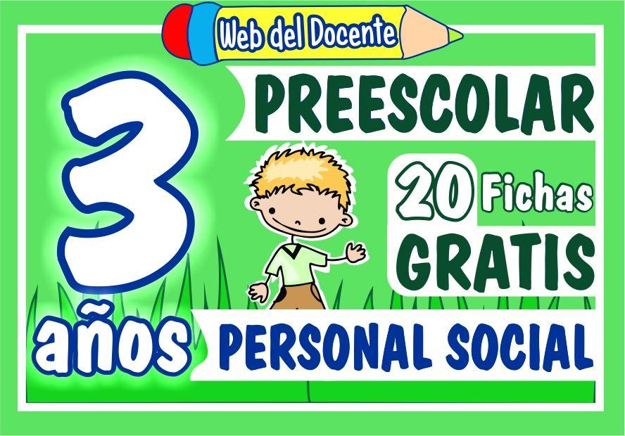 Actividades de Personal Social para Niños de 3 Años de Preescolar o Inicial